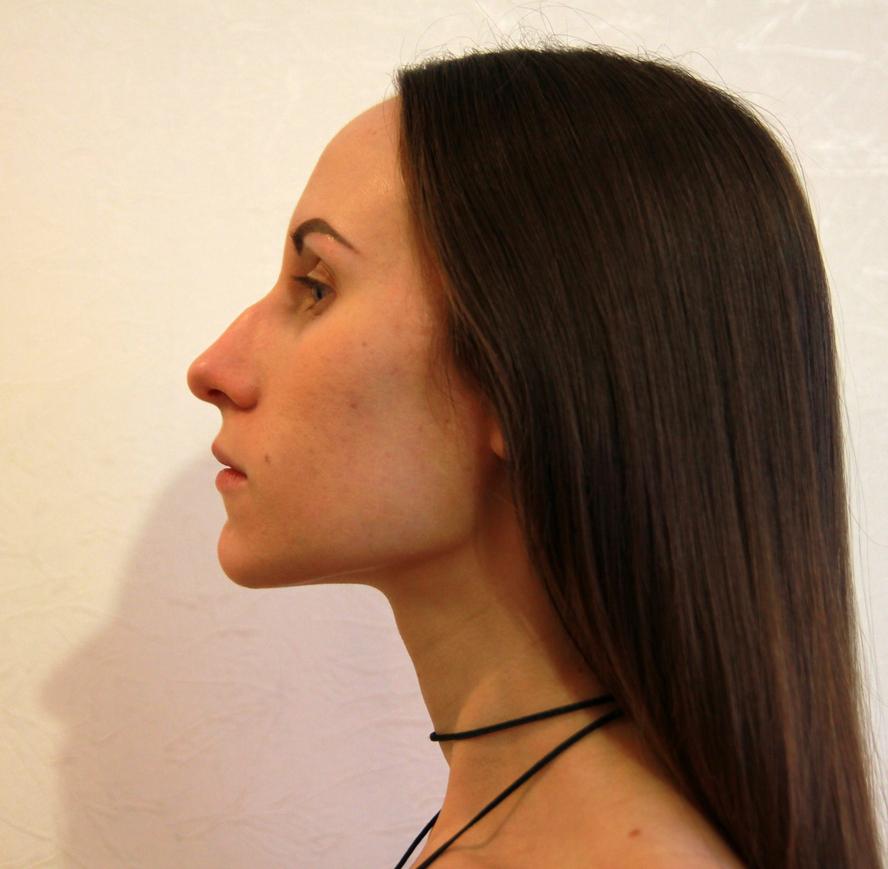 Красивый нос с горбинкой