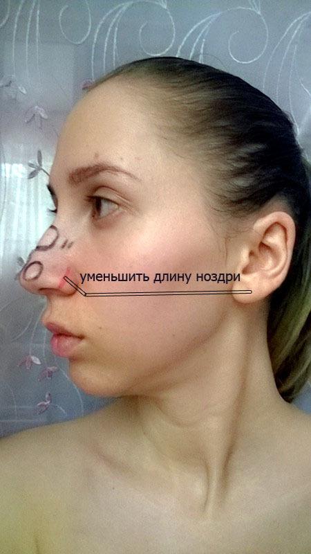Нос с горбинкой макияж